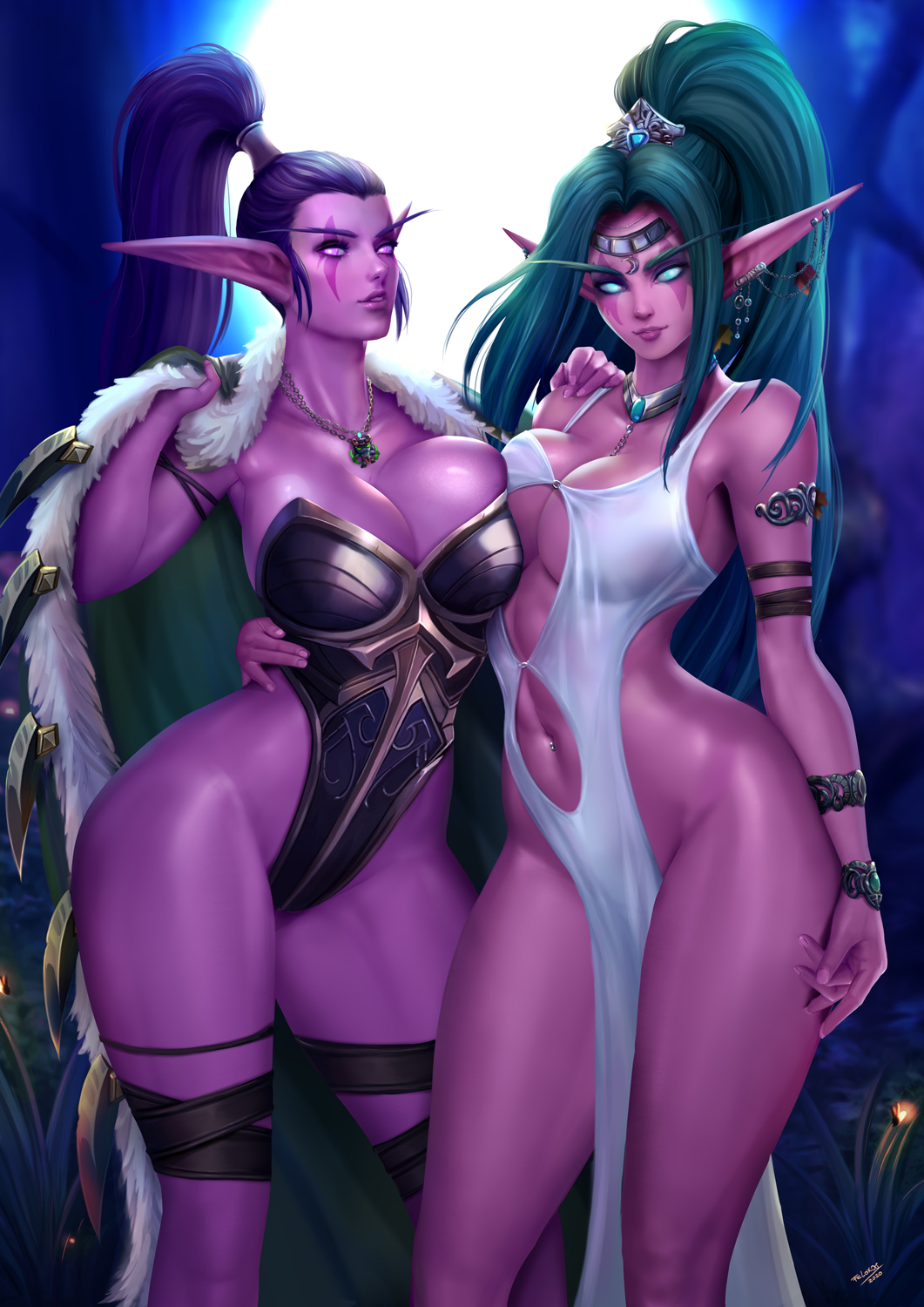 warcraft world nude of night elf Joise and the pussy cats