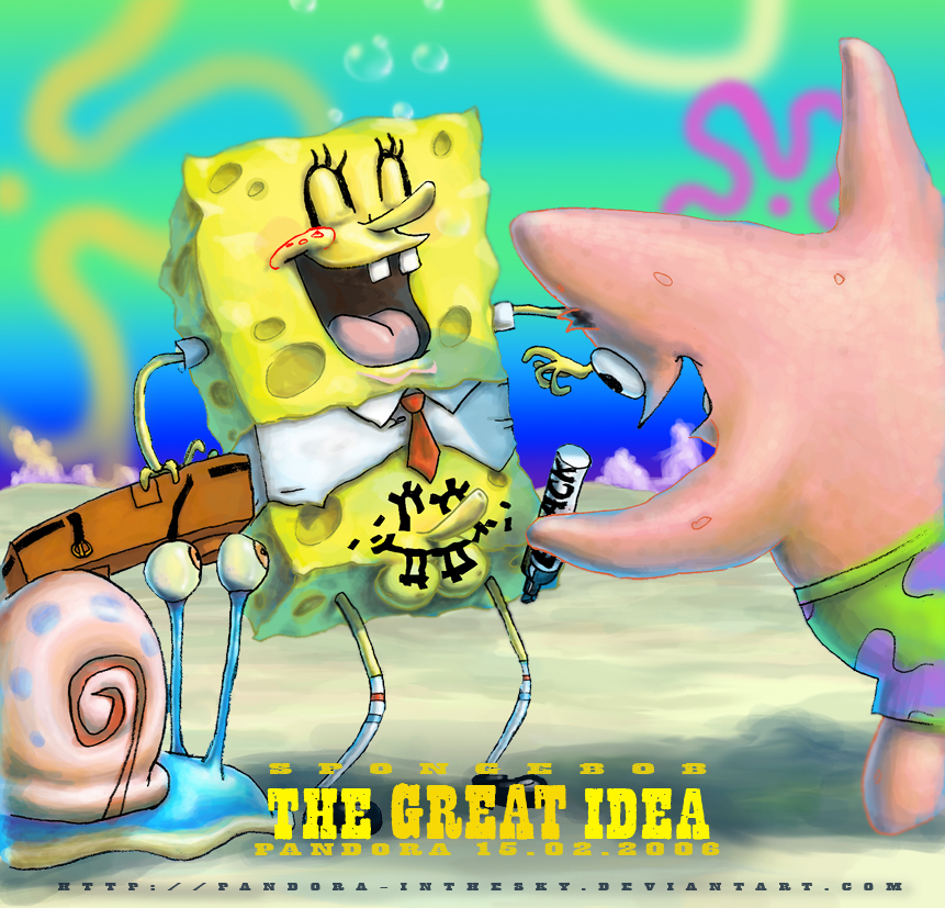 just standing spongebob he's there menacingly Poof from fairy odd parents