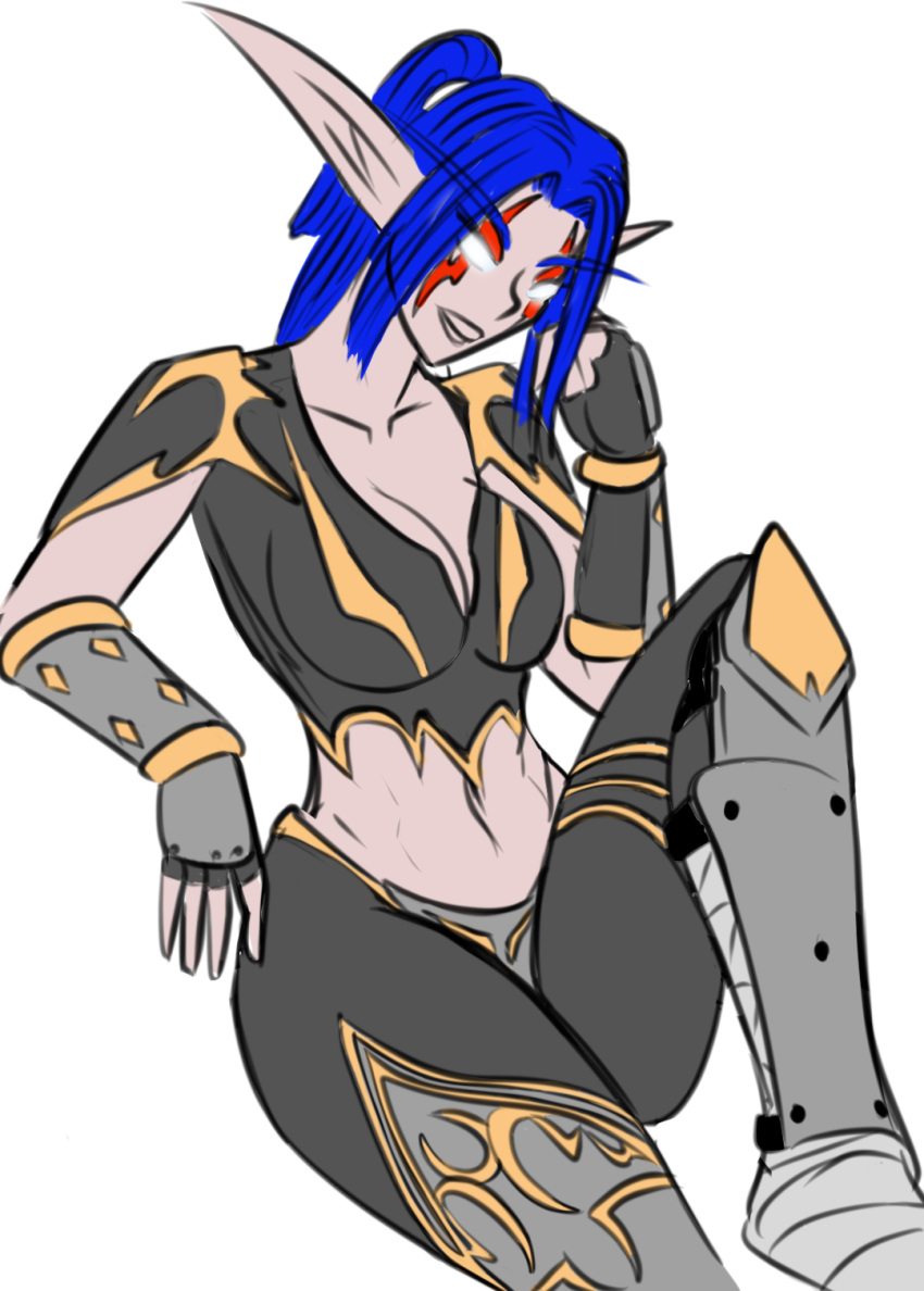 nude elf of night world warcraft Linel breath of the wild
